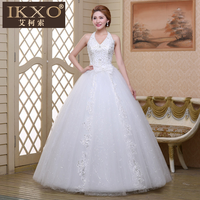 New fashion mesh ikxo2015 autumn bride wedding wedding dress wedding dresses wedding dress