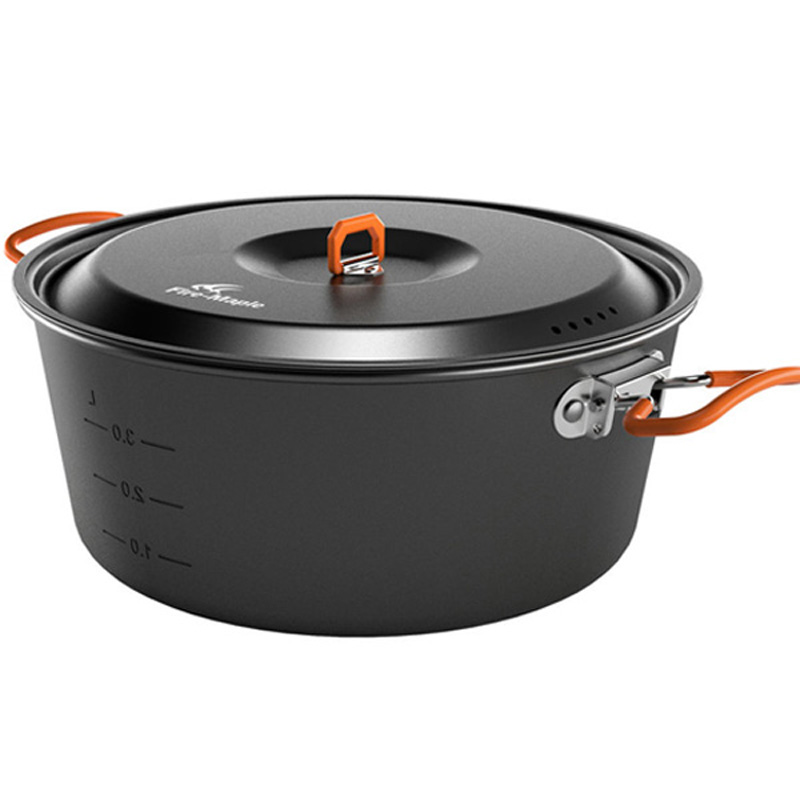 New fire maple outdoor hot pot with pot pot outdoor camping cookware set fire maple feast light big mouth pot