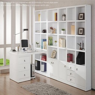 New large bookcase bookcase combination computer desk bookcase siamese desk cabinet computer desk combination bookcase bookcase