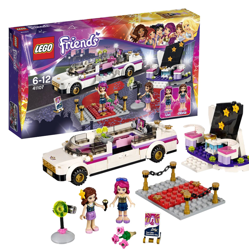 New lego fight inserted lego toy building blocks girl friend 41107 big star luxury car 6 years old +