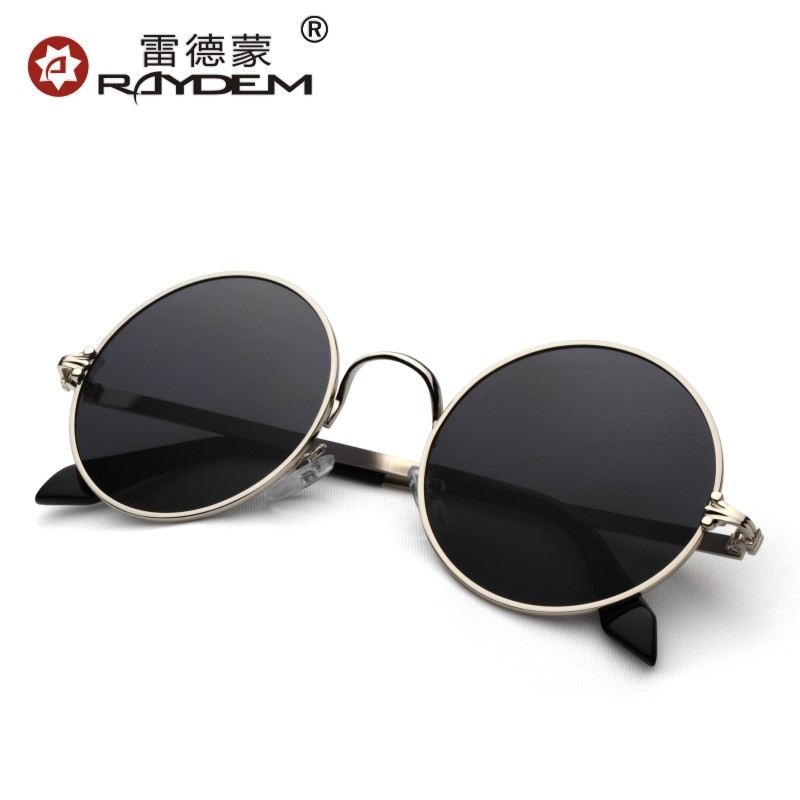 New men's sunglasses influx of people men and women round glasses prince mirror sunglasses retro sunglasses bright reflective sunglasses glasses