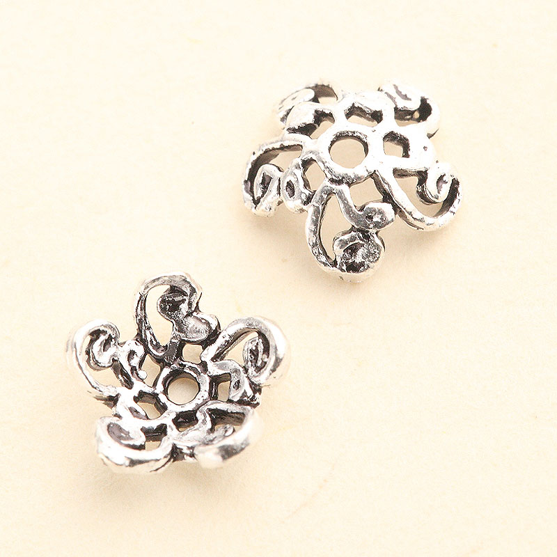 New morning s925 silver thai silver openwork lace flowers prop diy accessories beads scattered beads accessories