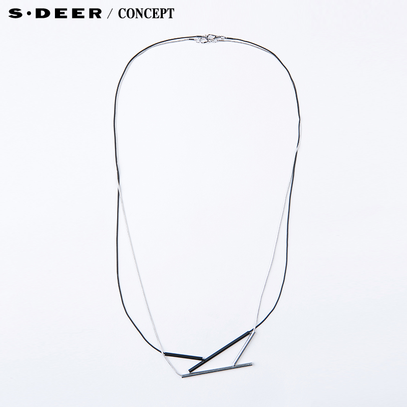 [New] sdeer st. dior counters authentic women abstract geometric pendant necklace S15484302