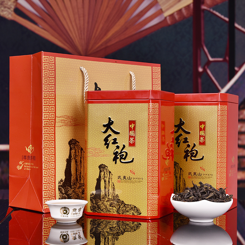New spring and mount wuyi rock da hong pao tea luzhou oolong tea gift box gifts with kyrgyzstan