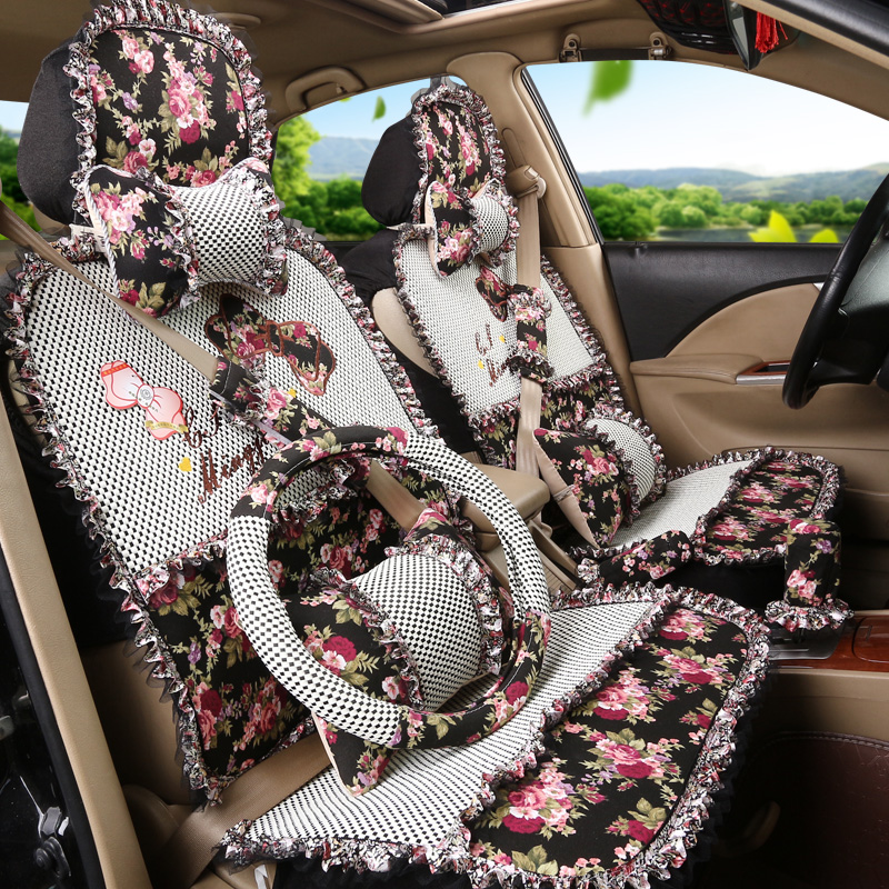 New spring and summer lace lace lace seat covers car seat cushion new sylphy new car seat upholstery four seasons applicable