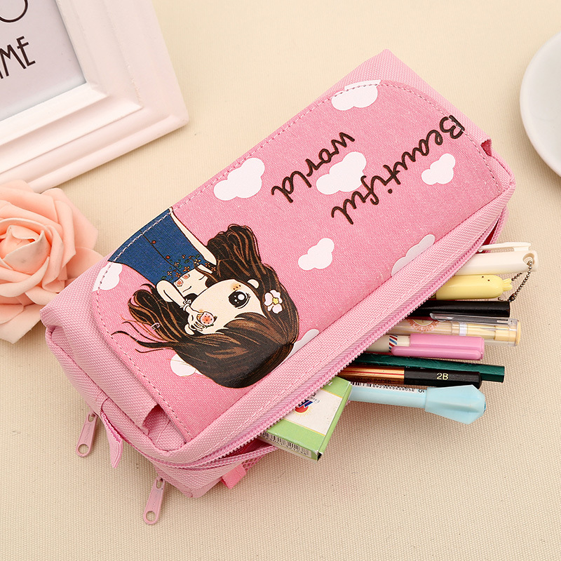 New student pencil stationery canvas bag cute girls in primary school children school supplies stationery gift