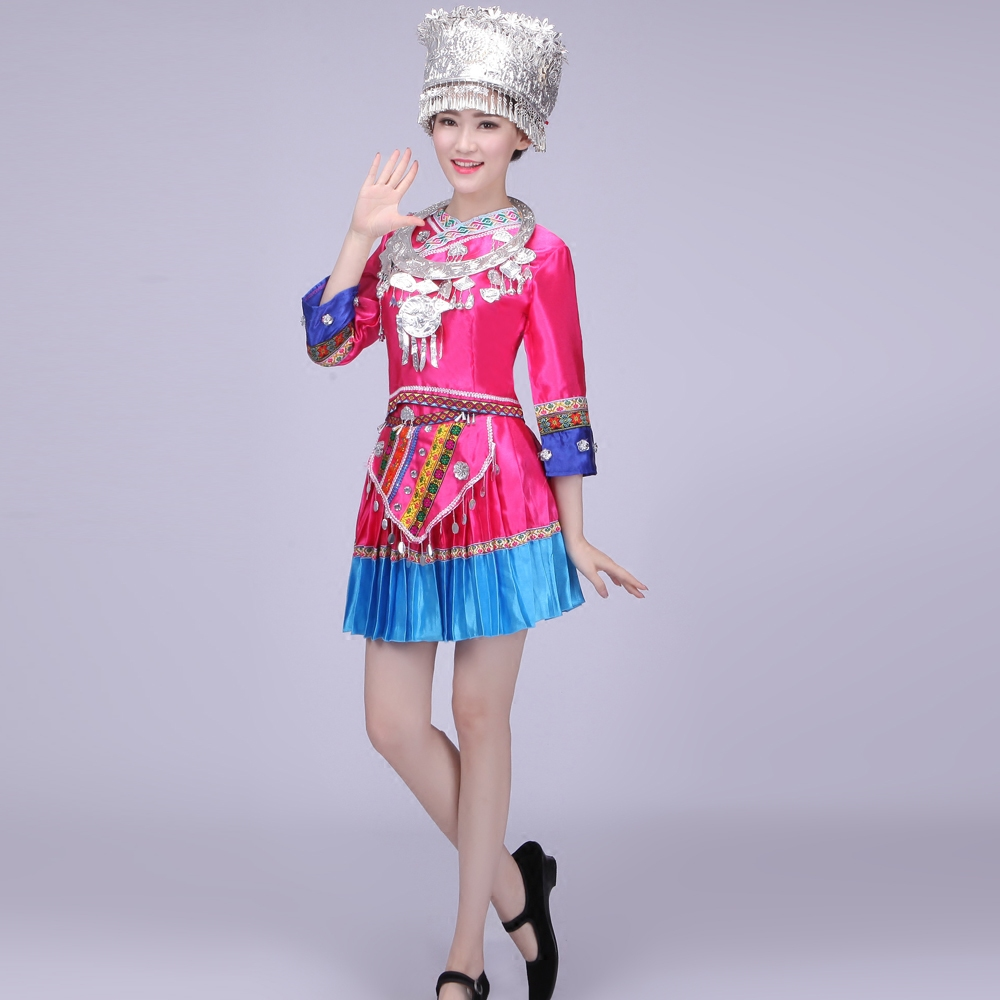 d00625ccc Get Quotations · New tujia and miao ethnic minority women's clothing  costumes dance costume zhuang ethnic clothing costumes hmong