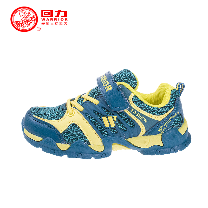 New warrior shoes children sneakers running shoes korean version of velcro breathable mesh running shoes hiking shoes slip shoes for men and women