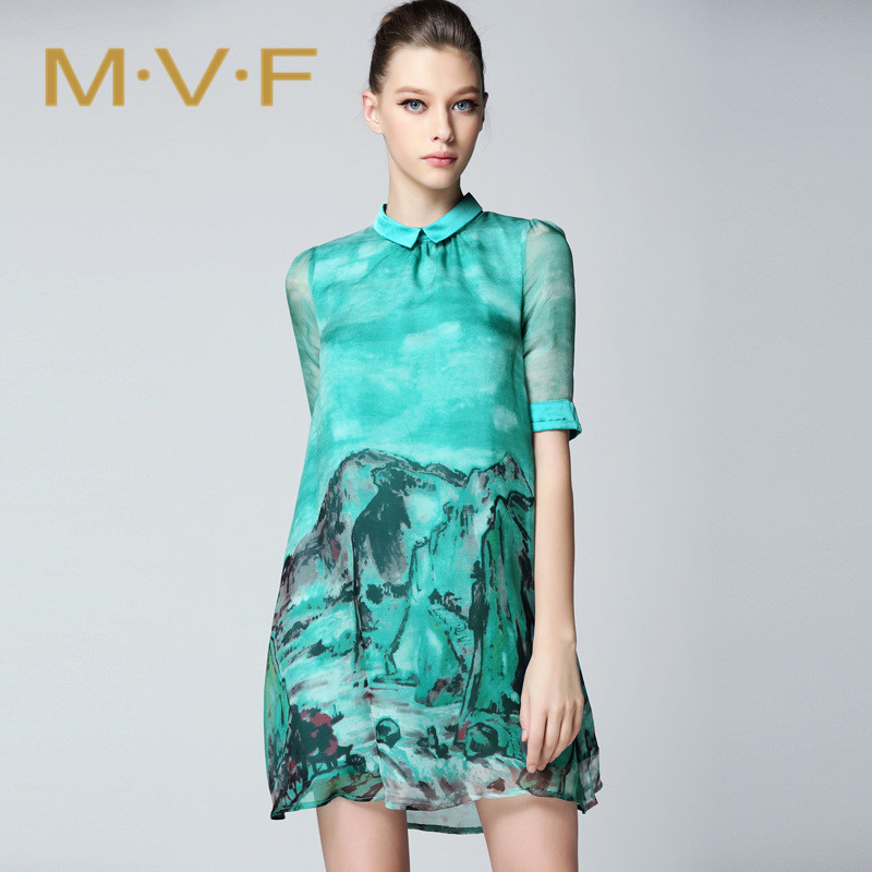 New wave of fashion ladies temperament large size dress MVF2016 comfort ladies short sleeve dress summer 3605