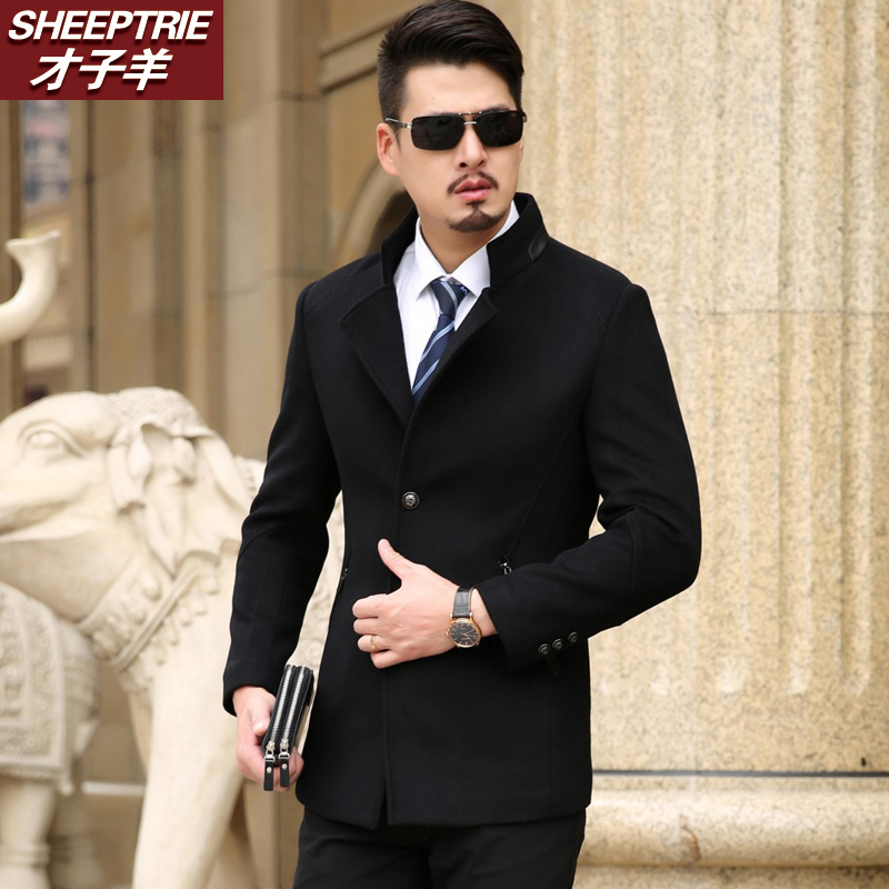 78e0a11b92 Get Quotations · New winter men s business casual suit collar woolen coat  men s business casual warm woolen winter coat