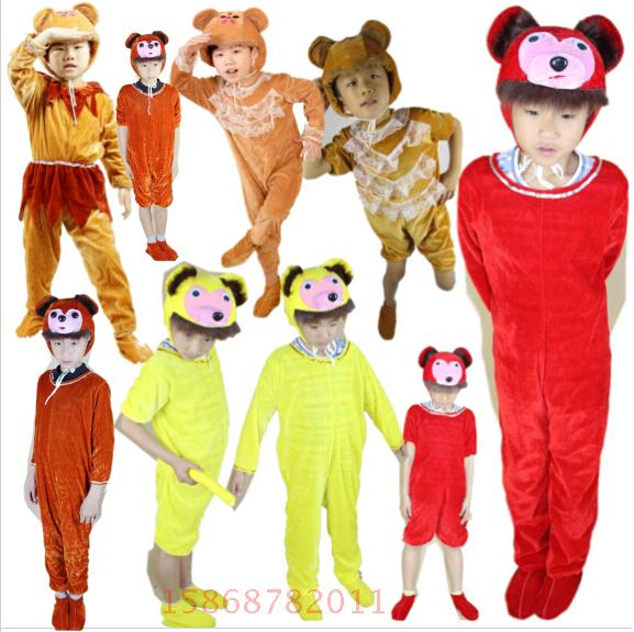 New year costumes for children small animal cartoon show clothing infant clothing small monkey monkey monkey king