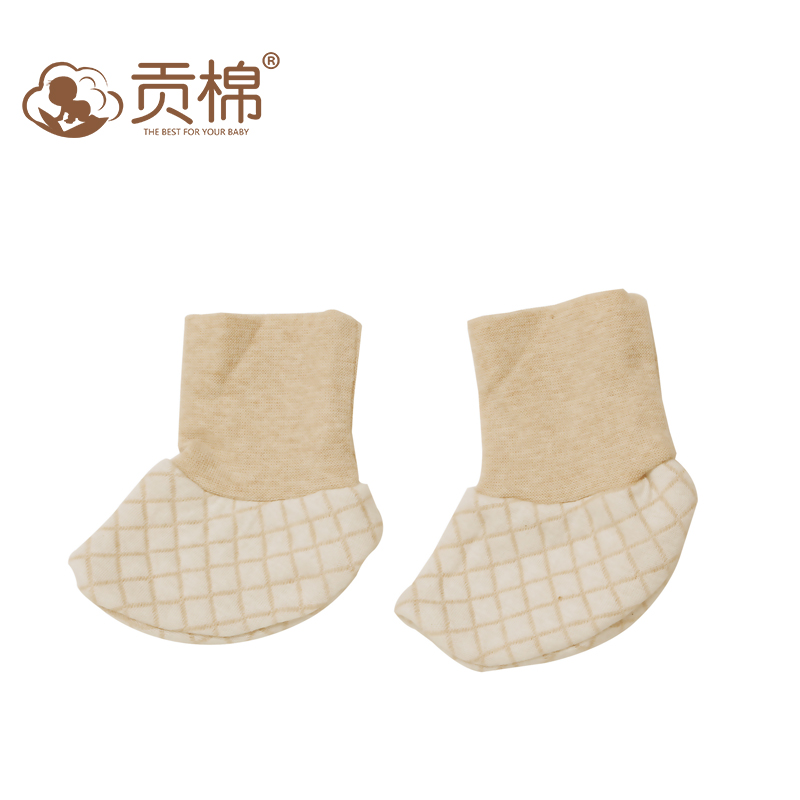 Newborn baby warm autumn and winter anti grasping foot protection guard quilted cotton newborn baby booties new autumn