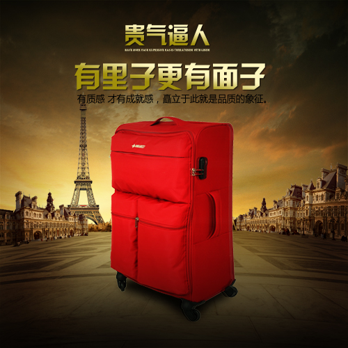 Newest to new trolley suitcase caster oxford lightweight travel luggage board chassis soft case