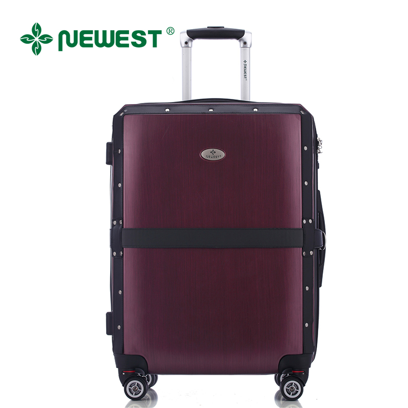 Newest to new tsa lock customs aircraft wheel trolley case suitcase board chassis luggage belt section