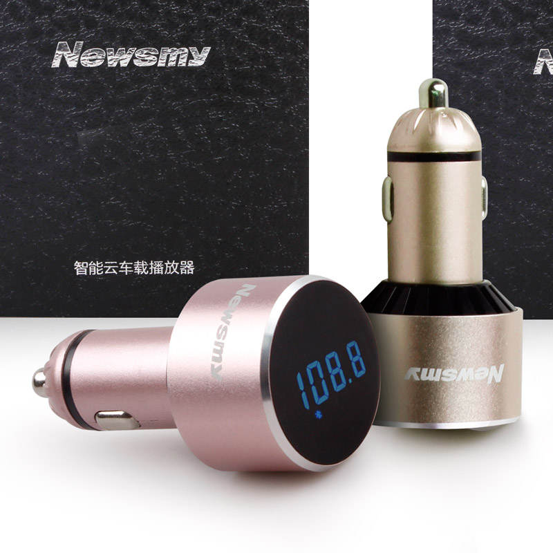 Newman c58 intelligent cloud bluetooth car mp3 player fm transmitter car music car cigarette lighter style mp3 charging