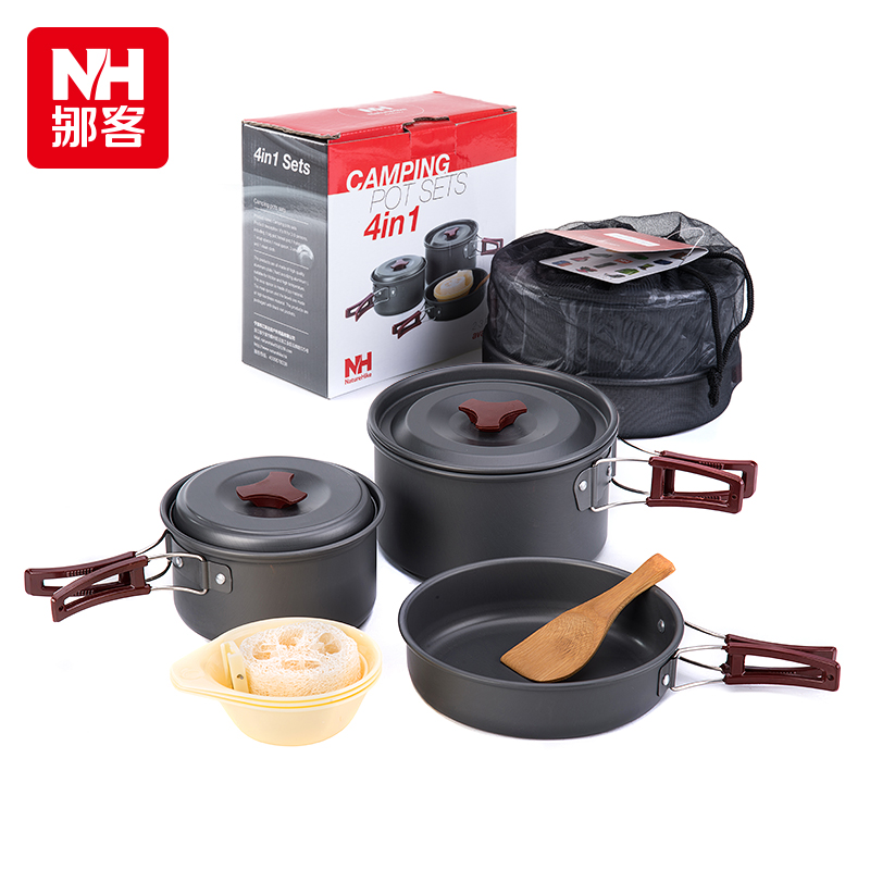 Nh move off picnic barbecue supplies portable outdoor camping cookware cookware cookware cutlery combination sets two or three people