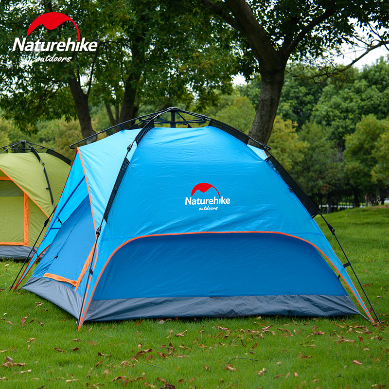 Nh outdoor automatic speed open tent camping tent camping tent double rain
