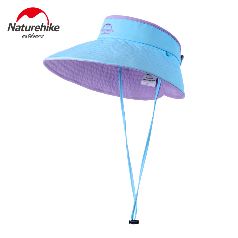 Nh outdoor topless sun hat female uv sun hat folding hat summer travel wicking breathable