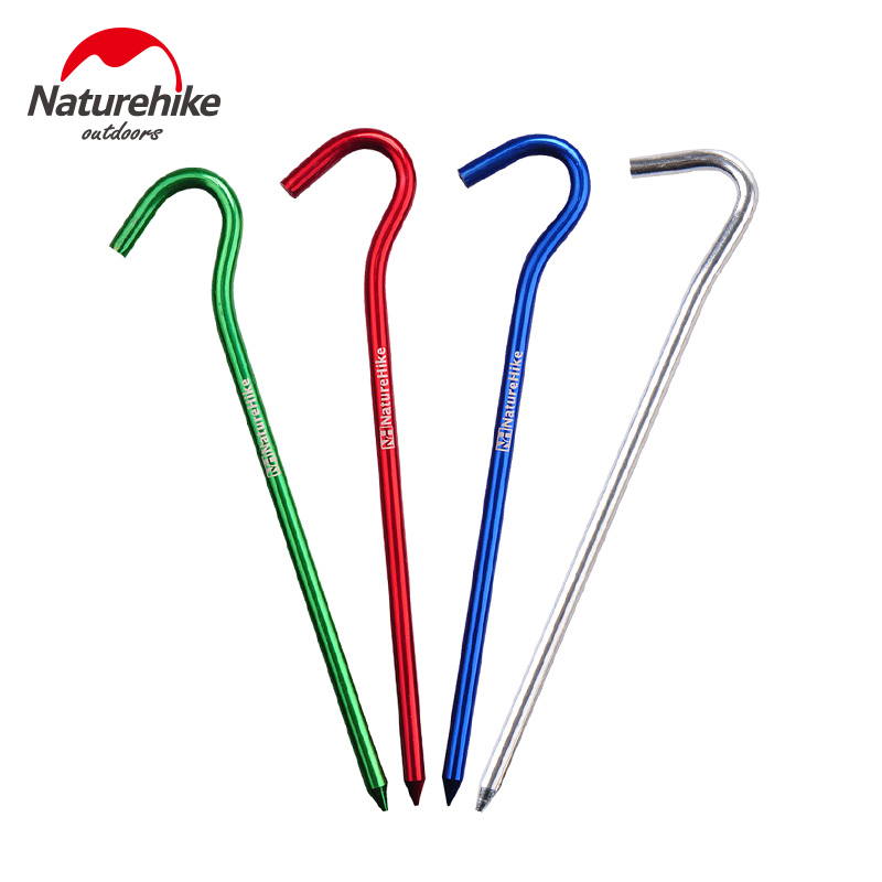 Nh tent round hook nailed hard anodized aluminum 8 6只suit color random delivery
