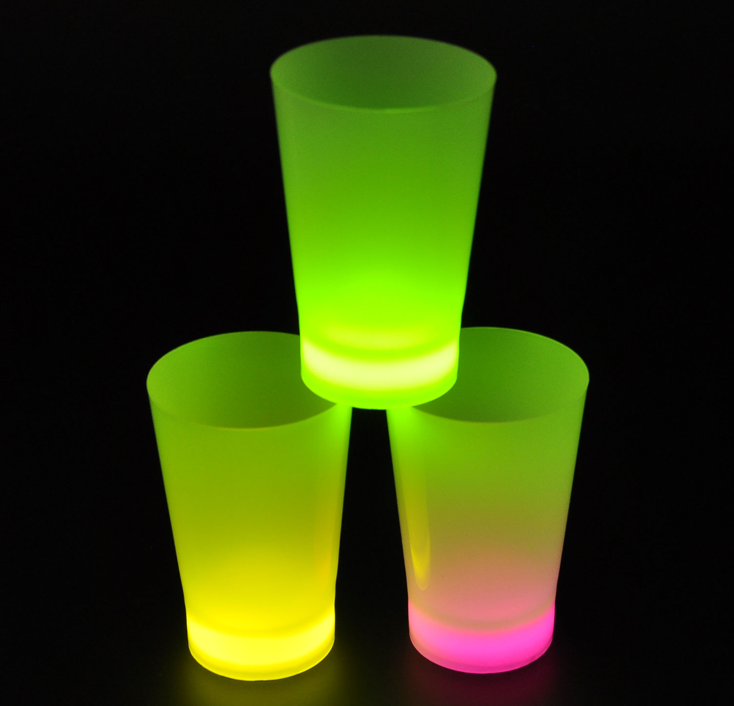 Niceglow diy fluorescent led cup/bar fluorescent fluorescent glass cup/bar dedicated hair light cup