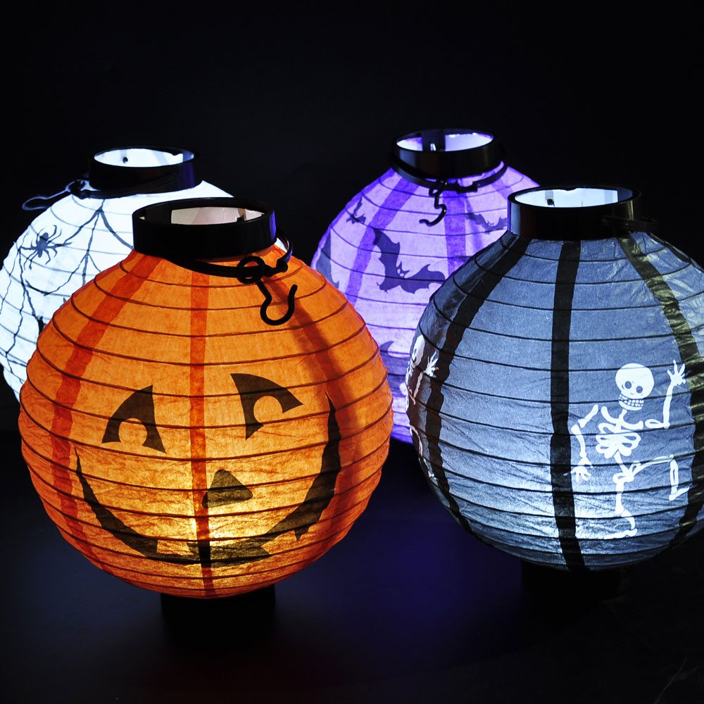 Niceglow halloween decoration halloween lantern jack portable hanging paper lantern pumpkin pumpkins