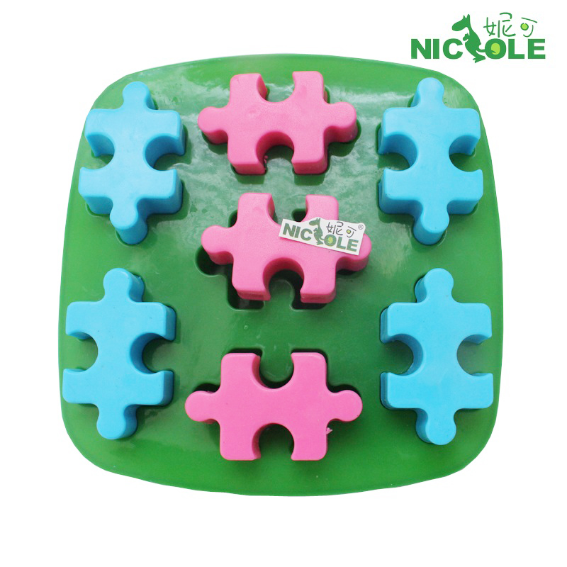 Nicole diy baking mold even 7 blocks modeling handmade chocolate pudding mold jelly mold silicone soap mold