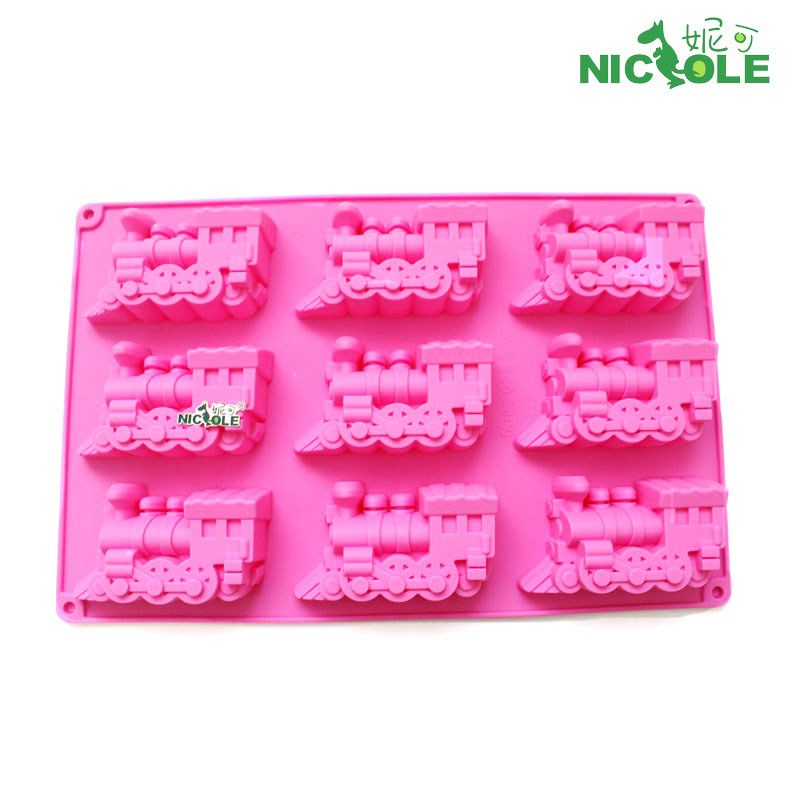 Nicole diy train silicone chocolate mold chocolate mold cake mold pudding mold oven with baking tools