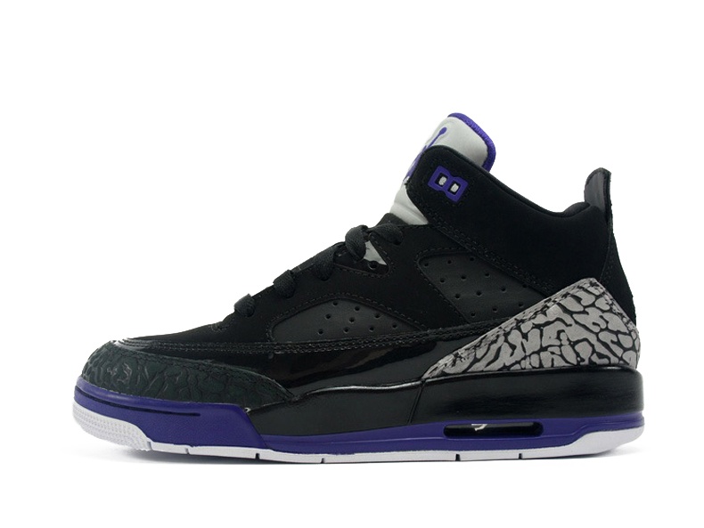 pretty nice f924c 48873 Get Quotations · Nike air jordan son of mars gs black and purple women s  basketball shoes 580604-008