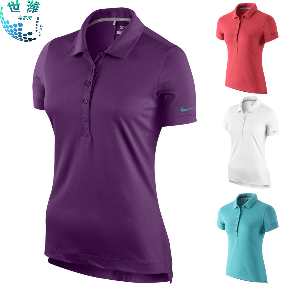 Get Quotations · Nike golf apparel nike golf clothing women's short sleeve t -shirt ladies polo shirt wicking