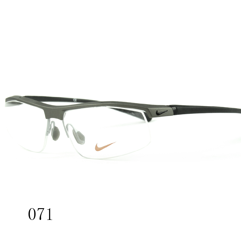 Nike nike men's glasses frame myopia frame influx of male nike casual half frame plate glasses frame 7071/2/3