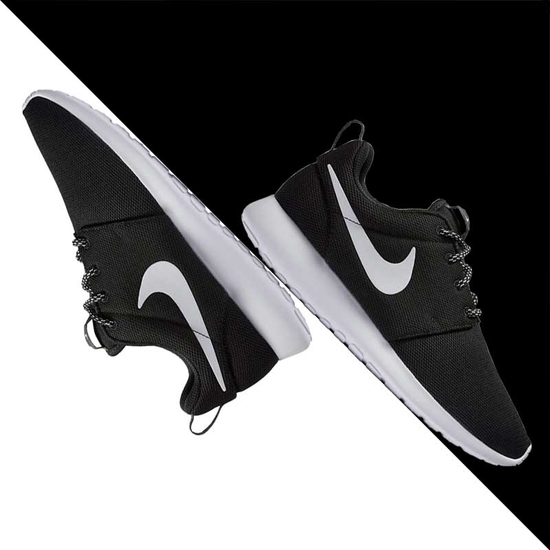 dbcacd167e801 Get Quotations · Nike roshe one black and white oreo female lightweight sports  running shoes 844994-002-