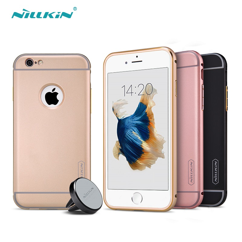 Nile gold iphone6 plus car plus magnetic bracket shell phone apple 6 s protective sleeve full hemming