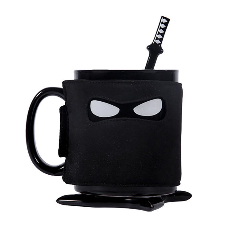 Ninja mug cup insulated mug cup coffee mug cup creative cute ceramic cup mug personalized text