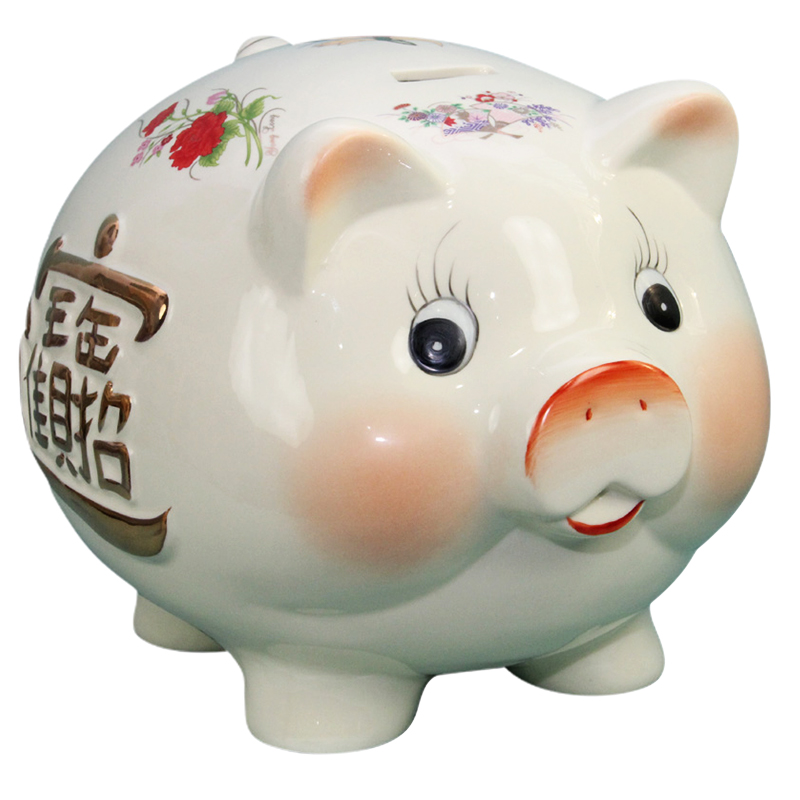 No. 10 ceramic golden pig piggy piggy piggy piggy lucky queen opened gift ideas ornaments can love