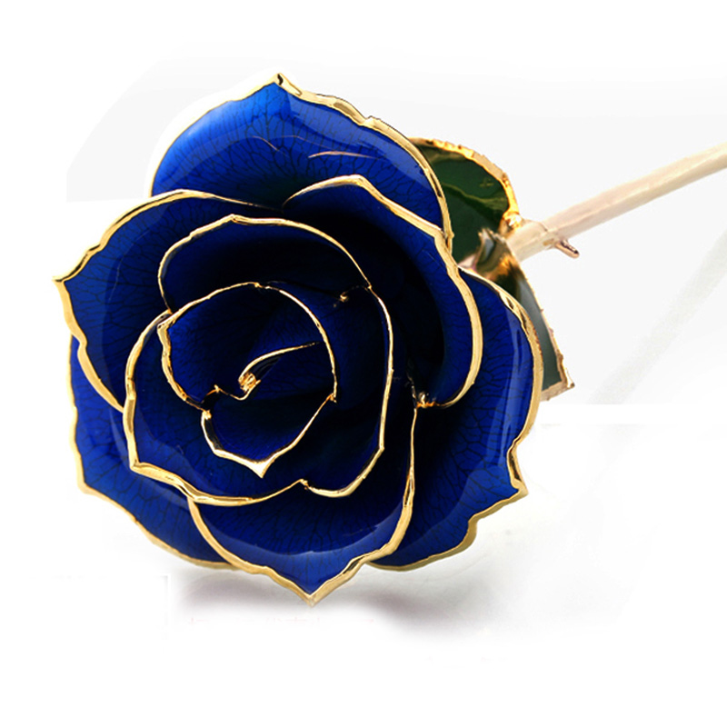 No fear of k gold plated roses bluelover tanabata send his girlfriend a birthday gift jewelry