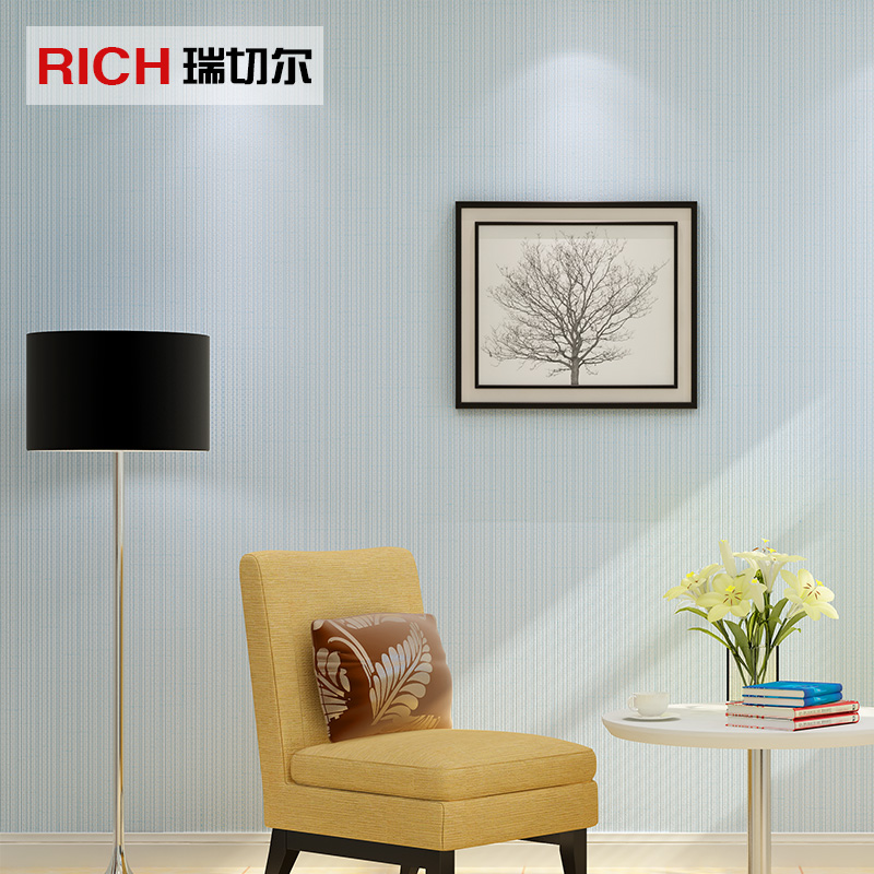 Get Quotations Nonwoven Wallpaper Plain Solid Color Cozy Bedroom Modern Minimalist Light Colored Book Room Living