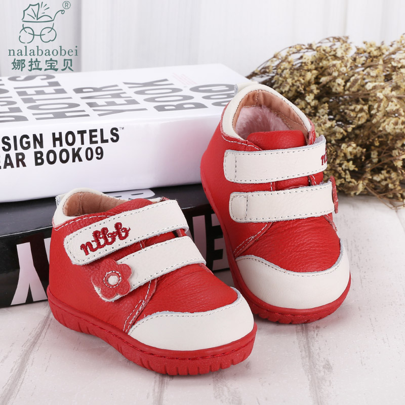 Nora leather baby shoes soft bottom baby shoes leather toddler shoes dongkuan function toddler shoes cotton shoes