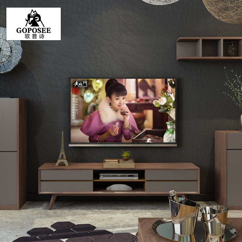 Nordic ash wood furniture modern minimalist small apartment tv cabinet tv cabinet locker cabinet