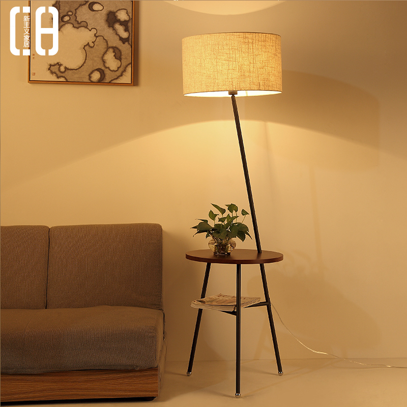 Nordic creative wood floor lamp modern minimalist living room sofa coffee table lamp bedroom floor lamp floor lamp ikea futon