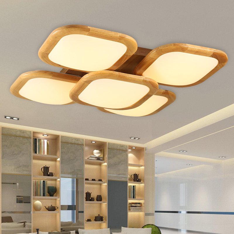 Get Quotations Nordic Ikea Bedroom Den Wooden Lamps Living Room Ceiling Light Wood Led Atmosphere