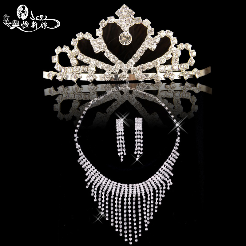 Noritsune bride 2016 wedding dress fashion wedding wedding jewelry accessories princess crown necklace earrings three sets