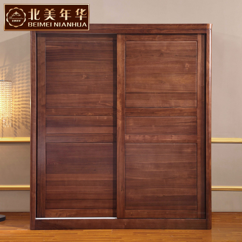 North american love 037 high wooden modern chinese black walnut solid wood wardrobe closet furniture