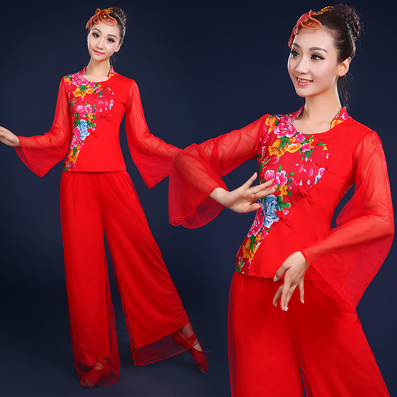Northeast younger younger clothing 2016 new summer middle-aged square dance dance dance clothing square dance clothing drum fan dance costumes female