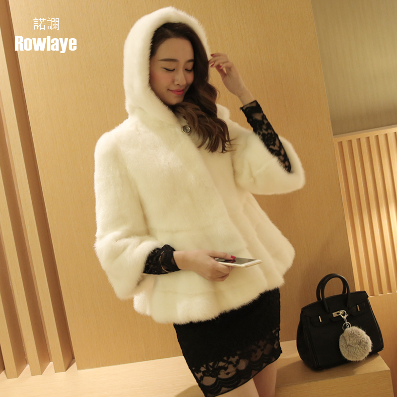 Novo lan 2015 new haining whole mink mink fur mink coat girls long section hooded mink fur mink coat the entire female