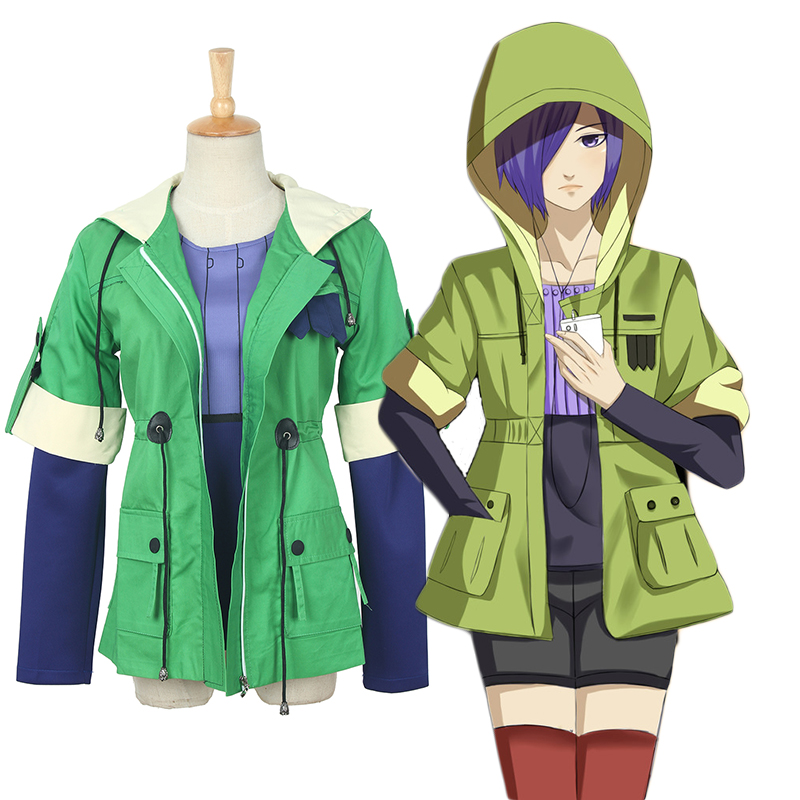 3d7d3660a25c Get Quotations · Nuoqi cos tokyo ghoul kirishima dong hong single coat can  everyday cosplay ladies clothes