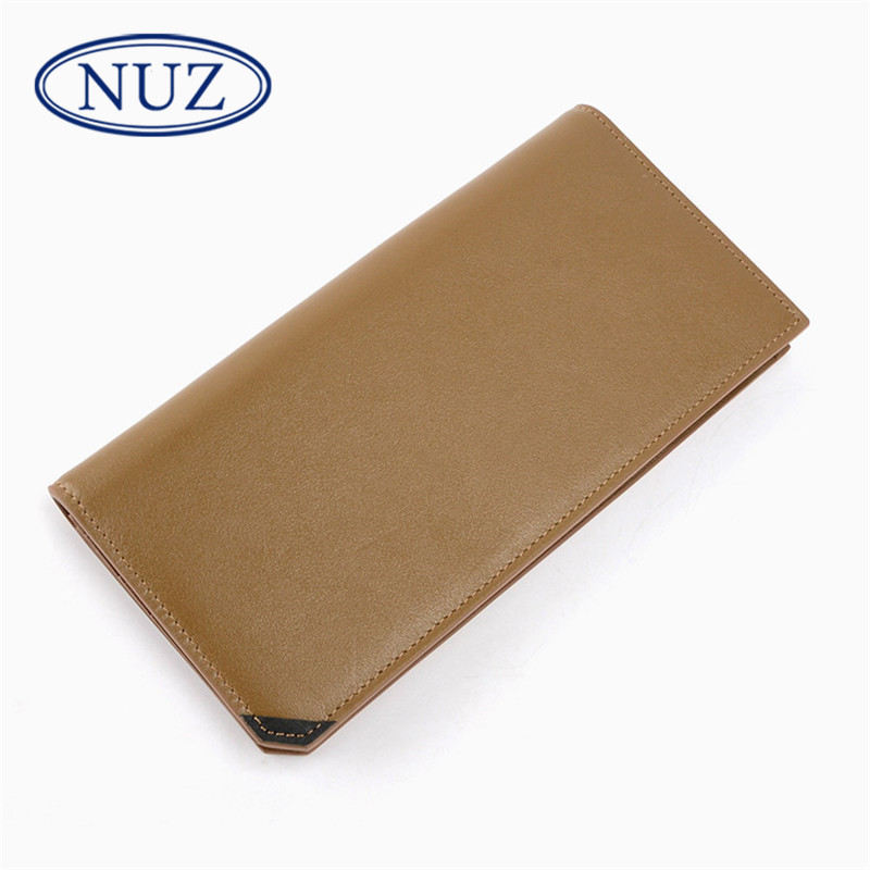 Nuz retro style leather wallet 2016 summer new hong kong brand wild men's business clutch 2954