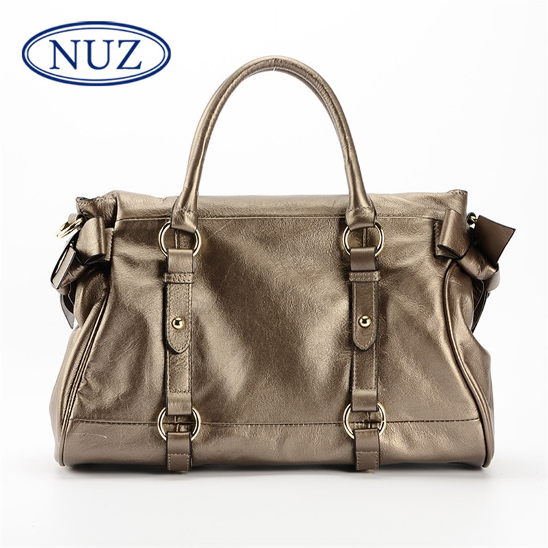 NUZ2016 hong kong brand first layer of leather ladies fashion leather shoulder bag handbag wild 4561