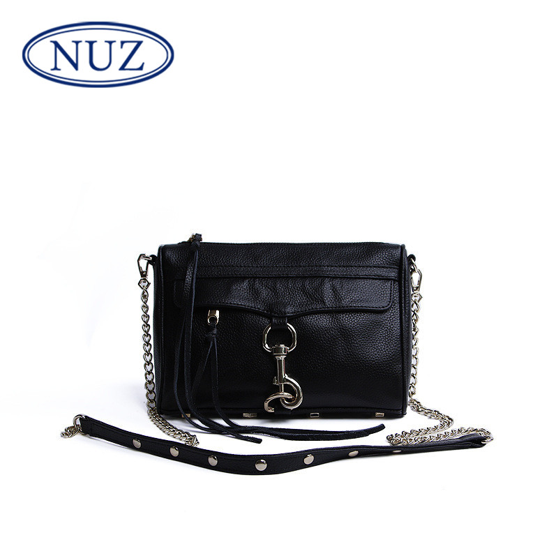 NUZ2016 simple mini cross section of small square bag european style leather handbag shoulder messenger chain bag 9539