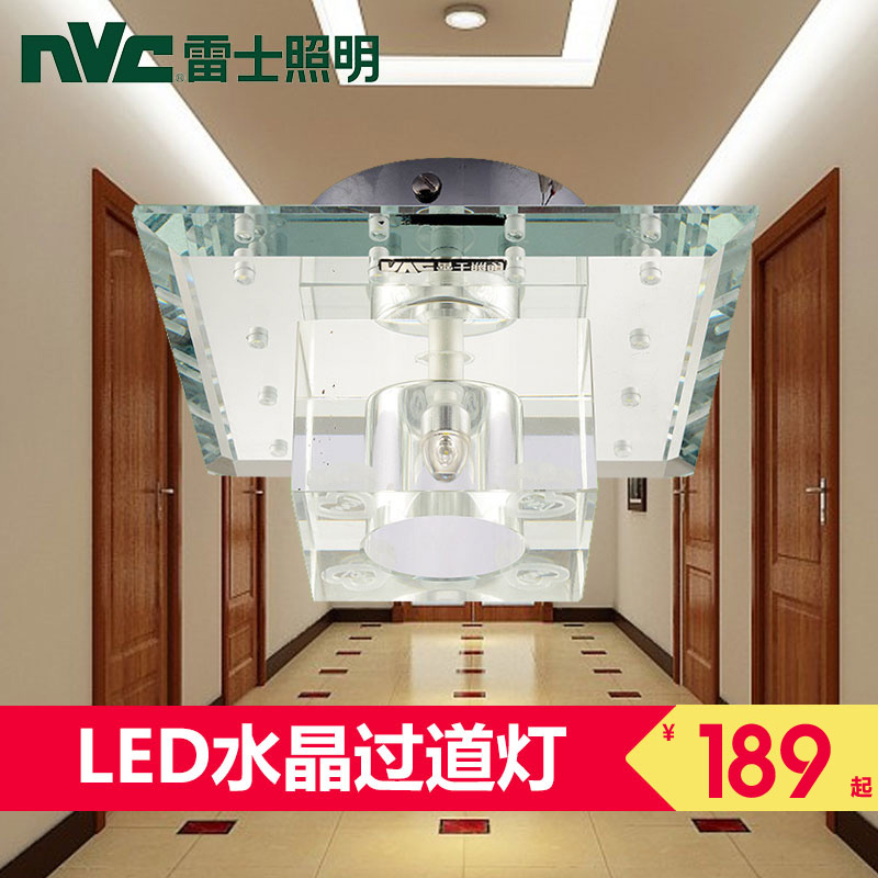 Nvc lighting led wall lamp led crystal lamp bedroom bedside entrance hallway ceiling lights minimalist modern