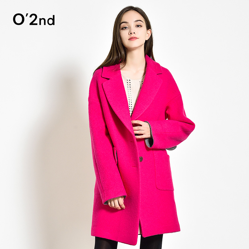 O '2nd/austrian kou long woolen coat female 2016 fall and winter clothes temperament slim woolen woolen coat